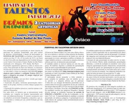 Festival de Talentos Estácio 2012